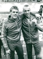 Silver medalist Pär Arvidsson and bronze medalist Jan Thorell from Sim-EM in 1977