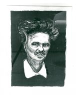 """Edvard Munch's picture of """"Portrait Strindberg"""" is auctioned for 50,000 kr"""
