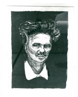 "Edvard Munch's picture of ""Portrait Strindberg"" is auctioned for 50,000 kr"