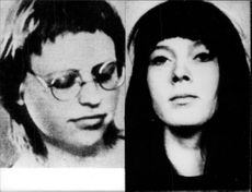 The West German terrorists Hanna Krabbe and Imgard Moeller.