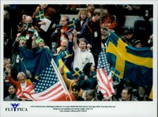 Ice hockey match Sweden vs USA at OS