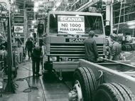 1000th Scania vehicle for the Spanish market ready to leave the assembly plant