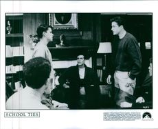 """1992 A scene photo from the film """"School Ties""""."""