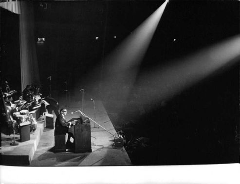 Ray Charles Robinson performing live on stage.