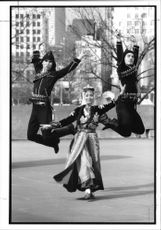 Dance: Members of the Turkish State Folk Dance Company.