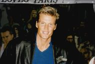 Portrait image of Dolph Lundgren taken when visiting the Planet Hollywood restaurant in Paris.