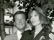 Roger Moore and his wife Luisa
