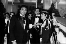 """Muhammad Ali visited the 31st edition of the Cannes Film Festival together with his wife Veronica. He was there to promote his movie """"Freedom's Road""""."""