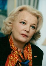 Actress Gena Rowlands gives a press conference in Stockholm
