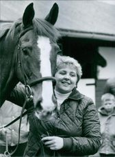 Grand National Winner, Jenny Pitman with Corbiere, 1983.