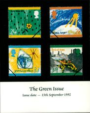 The Green Issue Stamps.