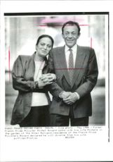 Michel Rocard with his wife.
