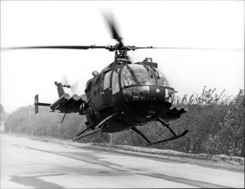 West German military helicopter.