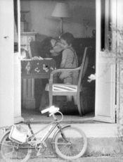 Jacques Charrier kissing his child,
