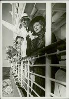 Karl Hermann Martell and Zara Leander  on the same ship 1937.