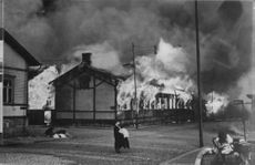 The first image from the Russian bombing of Turku, 1941.