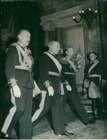 Gen. Major Cederschiöld, General Jung and the governor gen. Friis