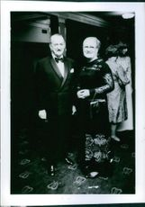 Einar Beyron posing with his wife Brita Hertzberg during an event.