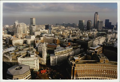 Aerial view of the St Pauls area in London