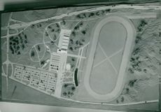 Galopp course in model from the fifties