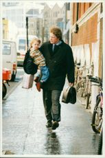 Earl Spencer with his daughter
