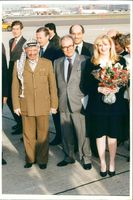 Yasser Arafat with wife suha.
