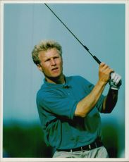 Golf player Per-Ulrik Johansson during British Open 1992 at Muirfield