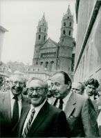 Bernhard Vogel, Henry Kissinger and Hans Dietrich Genscher at the 300th anniversary since the first German emigration to the new world