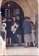 Charles and Diana attends the funeral of Earl Spencer