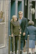 Dolph Lundgren and his wife Anette during a shopping trip in Paris.