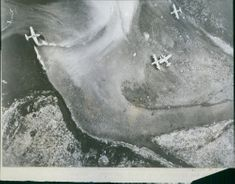 Japanese fighter planes photographed by U.S. Army Air Force planes.