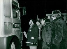 Britain Steel's Consett plant workers is manning a picket in Durham, Britain 1980