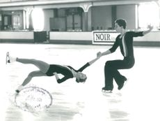 Ice skater Ian Jenkins performing with Dawn Packer