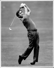 The Spanish golfer Seve Ballesteros.