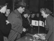 People queuing to contribute to charity - 8 May 1944