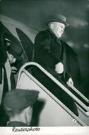 Foreign Minister Molotov arrives at the London conference