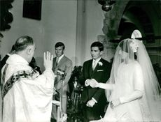 Christine Béranger-Goitschel getting married.  Taken - May 1966