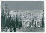 Winter view of the rapidly growing Soviet