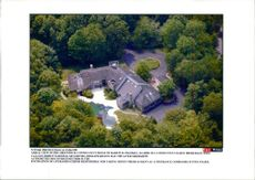 Aerial view of Martin R. Frankel's house in Greenwich, Connecticut