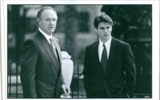 """Tom Cruise and Eugene Allen """"Gene"""" Hackman in the movie, """"The Firm""""."""