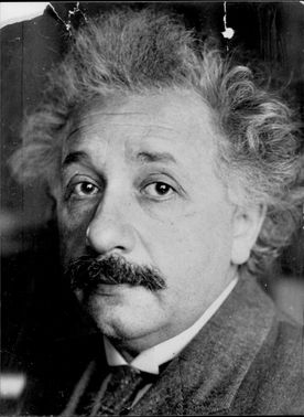 Portrait image of the Nobel Prize winner in Physics, Professor Albert Einstein.