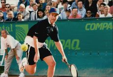 John McEnroe in action under the ATP Seniortouren