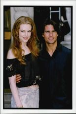 """Nicole Kidman and Tom Cruise at the premiere of """"Eyes Wide Shut""""."""
