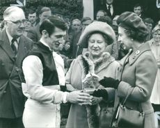 Tommy Stack with Queen Elizabeth.