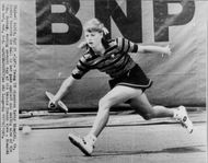 American tennis player Kathy Rinaldi plays French Open