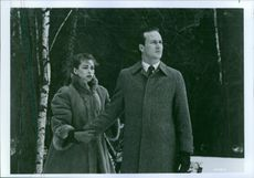 Still from the film Gorky Park with William Hurt and Joanna Pacula, 1983.
