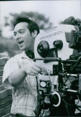 Director James Mangold on location set of the film Cop Land, 1997.