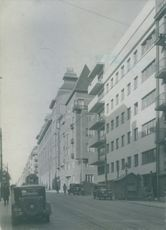 A view of Dalagatan in Stockholm, Sweden 1936