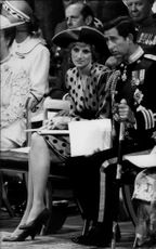 Princess Diana and Prince Charles were two of the guests at Prince Andrew and Sarah Ferguson's wedding.