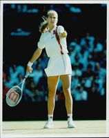 Action image on Steffi Graf taken under Wibledon.
